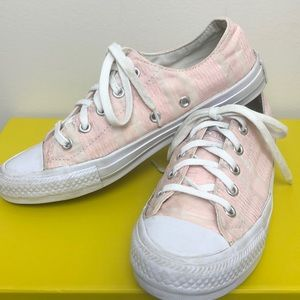 CONVERSE • Pink Allstar Gemma Low Top Skater Shoes